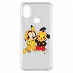 Чехол для Xiaomi Mi A2 Mickey and Pikachu