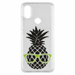Чехол для Xiaomi Mi A2 Pineapple with glasses