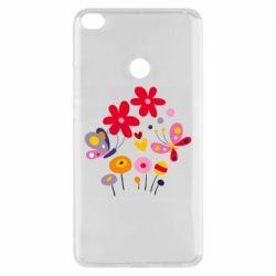 Чехол для Xiaomi Mi Max 2 Flowers and Butterflies