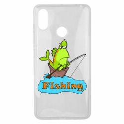 Чехол для Xiaomi Mi Max 3 Fish Fishing