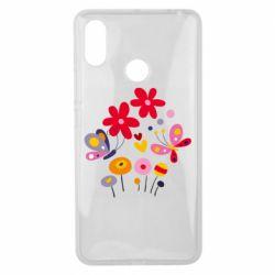 Чехол для Xiaomi Mi Max 3 Flowers and Butterflies