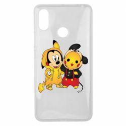 Чехол для Xiaomi Mi Max 3 Mickey and Pikachu