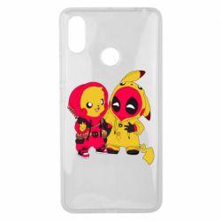 Чехол для Xiaomi Mi Max 3 Pikachu and deadpool