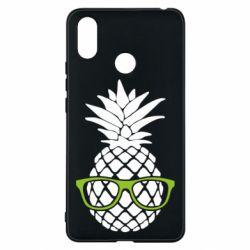 Чехол для Xiaomi Mi Max 3 Pineapple with glasses