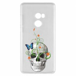 Чехол для Xiaomi Mi Mix 2 Skull and green flower