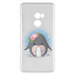 Чехол для Xiaomi Mi Mix 2 Two cute penguins
