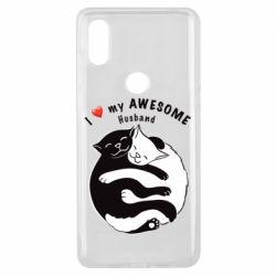 Чехол для Xiaomi Mi Mix 3 Cats and love