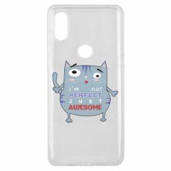 Чехол для Xiaomi Mi Mix 3 Cute cat and text