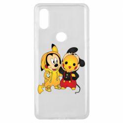 Чехол для Xiaomi Mi Mix 3 Mickey and Pikachu
