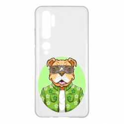 Чохол для Xiaomi Mi Note 10 A dog with glasses and a shirt