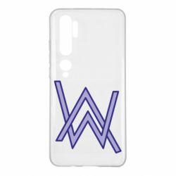Чехол для Xiaomi Mi Note 10 Alan Walker neon logo
