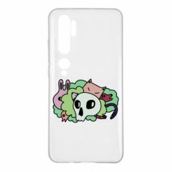Чехол для Xiaomi Mi Note 10 Animals and skull in the bushes