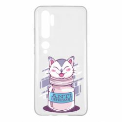 Чехол для Xiaomi Mi Note 10 AntiDepressant Cat