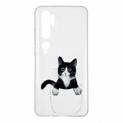 Чехол для Xiaomi Mi Note 10 Art cat in your pocket