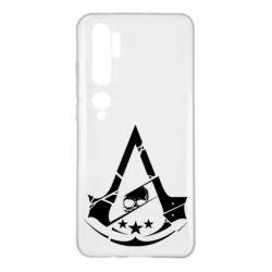 Чехол для Xiaomi Mi Note 10 Assassin's Creed and skull 1