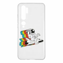 Чохол для Xiaomi Mi Note 10 Astronaut on a rocket with a tape recorder