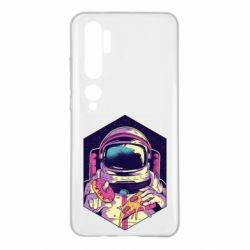 Чехол для Xiaomi Mi Note 10 Astronaut with donut and pizza
