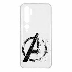 Чехол для Xiaomi Mi Note 10 Avengers logotype destruction