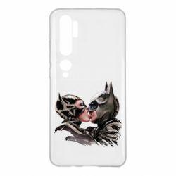 Чехол для Xiaomi Mi Note 10 Batman and Catwoman Kiss