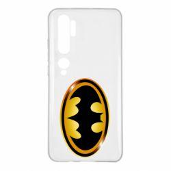 Чохол для Xiaomi Mi Note 10 Batman logo Gold