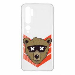 Чехол для Xiaomi Mi Note 10 Bear with glasses