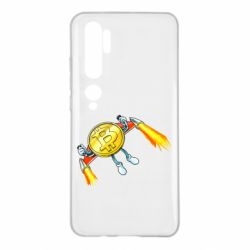 Чохол для Xiaomi Mi Note 10 Bitcoin into space