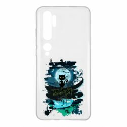 Чехол для Xiaomi Mi Note 10 Black cat art