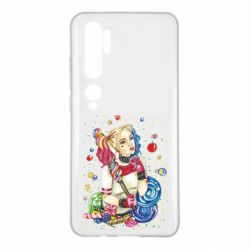 Чехол для Xiaomi Mi Note 10 Bright Harley Quinn Vector