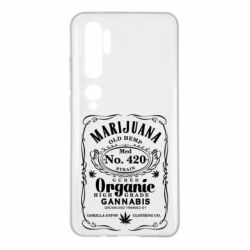 Чохол для Xiaomi Mi Note 10 Cannabis label