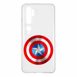 Чехол для Xiaomi Mi Note 10 Captain America 3D Shield