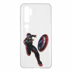Чехол для Xiaomi Mi Note 10 Captain america with red shadow