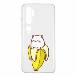 Чехол для Xiaomi Mi Note 10 Cat and Banana