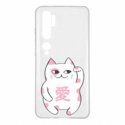 Чехол для Xiaomi Mi Note 10 Cat and hieroglyphs