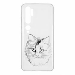Чехол для Xiaomi Mi Note 10 Cat drawing digital brush