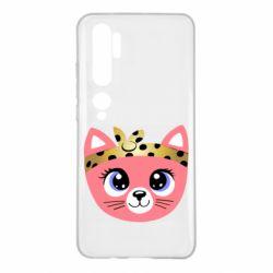 Чехол для Xiaomi Mi Note 10 Cat pink
