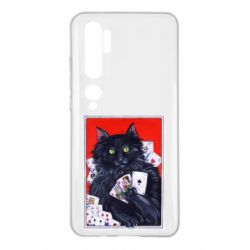 Чохол для Xiaomi Mi Note 10 Cats and gambling cards