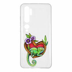 Чехол для Xiaomi Mi Note 10 Chameleon on a branch