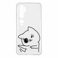 Чехол для Xiaomi Mi Note 10 Cheerful kitten