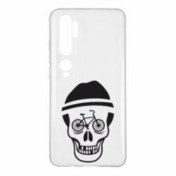 Чехол для Xiaomi Mi Note 10 Череп велосипедиста