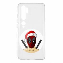 Чехол для Xiaomi Mi Note 10 Deadpool in New Year's hat