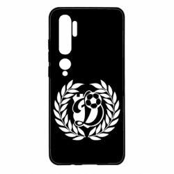 Чехол для Xiaomi Mi Note 10 Динамо Киев: мяч, колоски лого