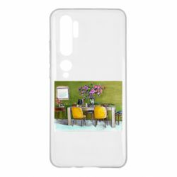 Чехол для Xiaomi Mi Note 10 Dining table with flowers