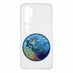 Чехол для Xiaomi Mi Note 10 Diving and the underwater world