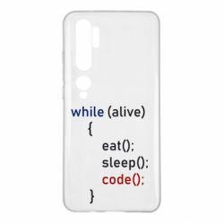 Чехол для Xiaomi Mi Note 10 Eat, Sleep, Code