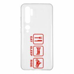 Чехол для Xiaomi Mi Note 10 Eat, sleep, ride