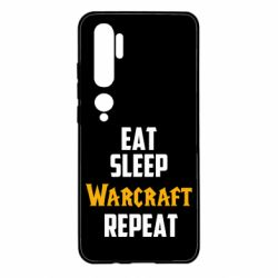 Чехол для Xiaomi Mi Note 10 Eat sleep Warcraft repeat
