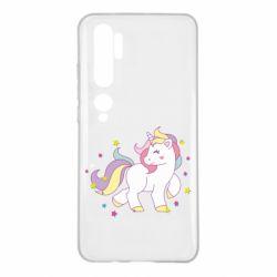 Чехол для Xiaomi Mi Note 10 Единорог в звёздах