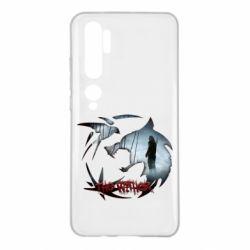 Чехол для Xiaomi Mi Note 10 Emblem wolf and text The Witcher