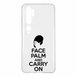 Чехол для Xiaomi Mi Note 10 Face palm and carry on
