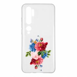 Чохол для Xiaomi Mi Note 10 Flowers and butterfly